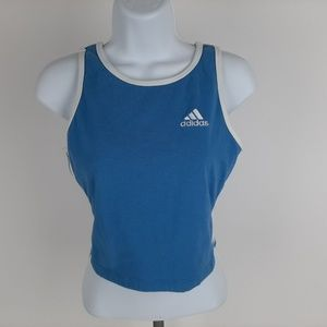 Adidas Women's Athletic Top Size Large Blue RF17